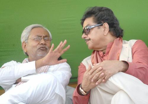Nitish Kumar & Shatrughan Sinha
