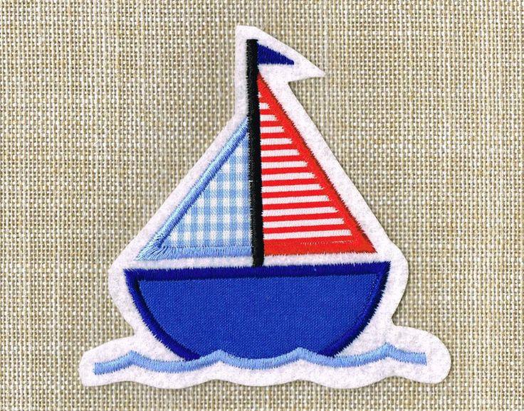 Segelboot applikation  20 besten stickdatei Bilder auf Pinterest | Dawanda com, Blumen ...