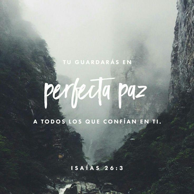 ¡Tú guardarás en perfecta paz a todos los que confían en ti; a todos los que concentran en ti sus pensamientos! Isaías 26:3