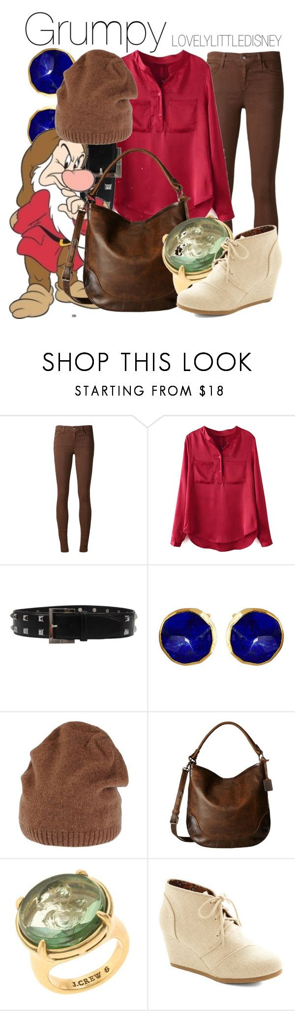 """Grumpy"" by lovelylittledisney ❤ liked on Polyvore featuring Joe's Jeans, Chicnova Fashion, Oscar de la Renta, Janna Conner, 7 For All Mankind, TESSA, Frye, J.Crew, disney and snowwhite"