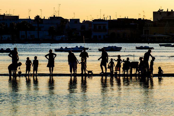 fishin' at sunset - Porto Cesareo 2011 (Italy)