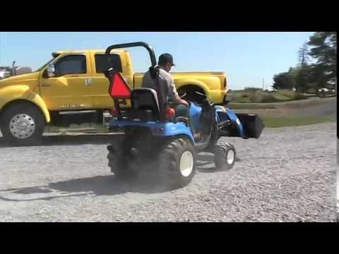New Holland T1010 Compact Tractor http://www.agromachinery1.com/video_listing/new-holland-t1010-compact-tractor/