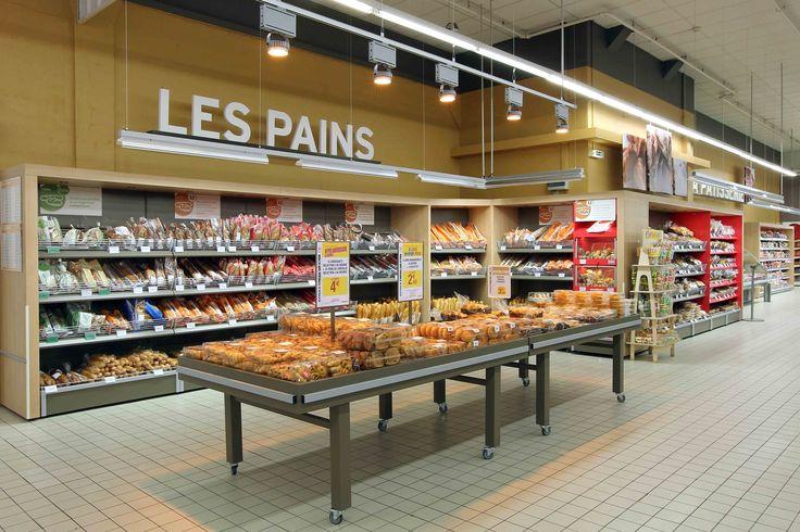 agencement grande distribution, mobilier boulangerie, mobilier pains | Groupe Lindera