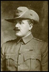 Captain Robert Johnston of the Imperial Light Horse who won the Victoria Cross at the Battle of Elandslaagte on 21st October 1899
