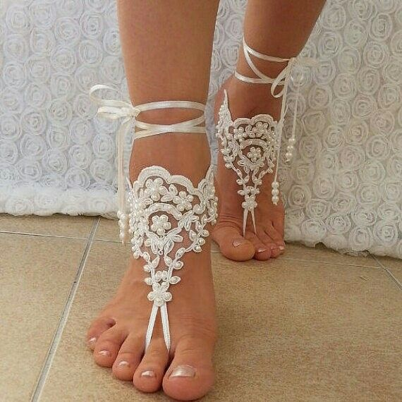 #Free #Ship #bridal #bangle #ivory #sandals #beach #wedding #barefoot #bridesmaid #weddingday #bangles #gift #anklets #bridal #sexy #feet #shoes #foot #scaly #beaded #amazing #followme #instalove #instagood #instalike #barefootshop #etsy