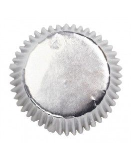 45 Silver Cupcake Cases