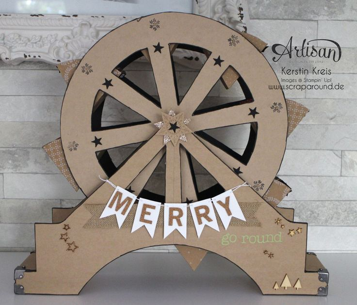 """""""Merry  Artisan Design Team BlogHop 06/11/2014 - Ferris Wheel from Cardstock - Seriously one of the coolest home décor projects I've seen using SU supplies!"""