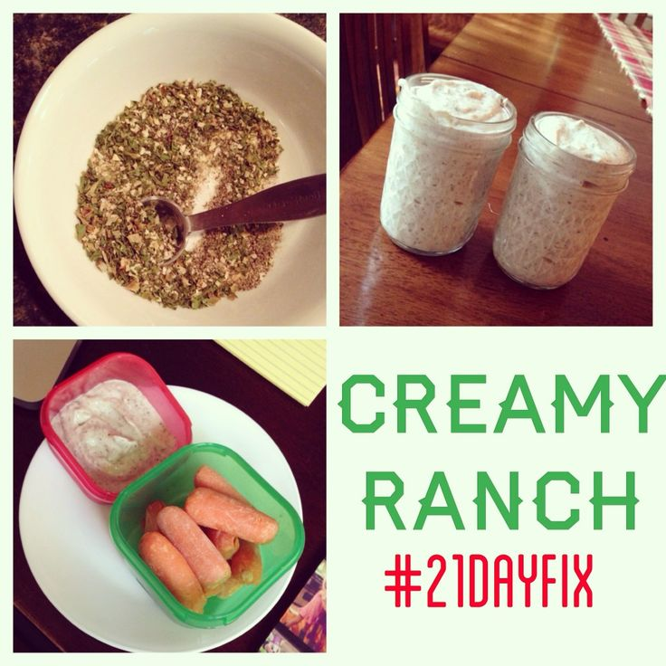 Protein Packed Creamy Ranch -- for your red container on the 21 day fix! #21dayfix