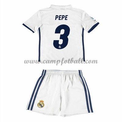 Fotballdrakter Barn Real Madrid 2016-17 Pepe 3 Hjemme Draktsett