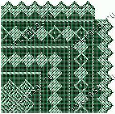 Схема вязания ажурного платка