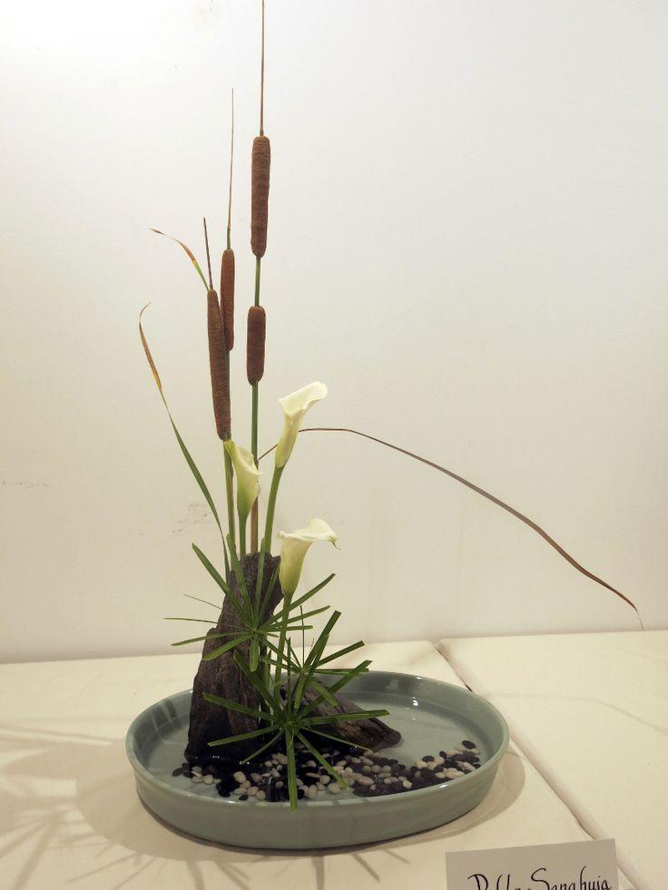 Motivos Florales, Adornos Florales, Centros Florales, Escuela Enshu, Arte Paziente, Arreglos Florales, Arreglo Flor, Alumno, Abril 2015