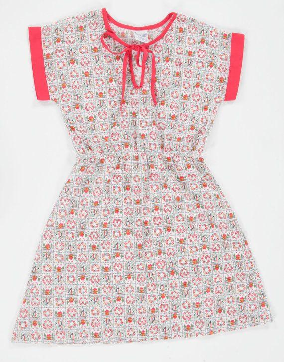 Girls Vintage fairytale kimono dress. Age7 by PeachandLoveVintage, £15.00