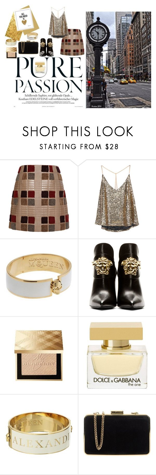 """Untitled #112"" by popescu-io on Polyvore featuring Marco de Vincenzo, Alexander McQueen, Avenue, Versace, Burberry, Dolce&Gabbana and MICHAEL Michael Kors"