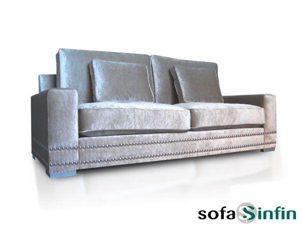 Sofá clásico de 3 y 2 plazas modelo Living fabricado por De Paula en Sofassinfin.es