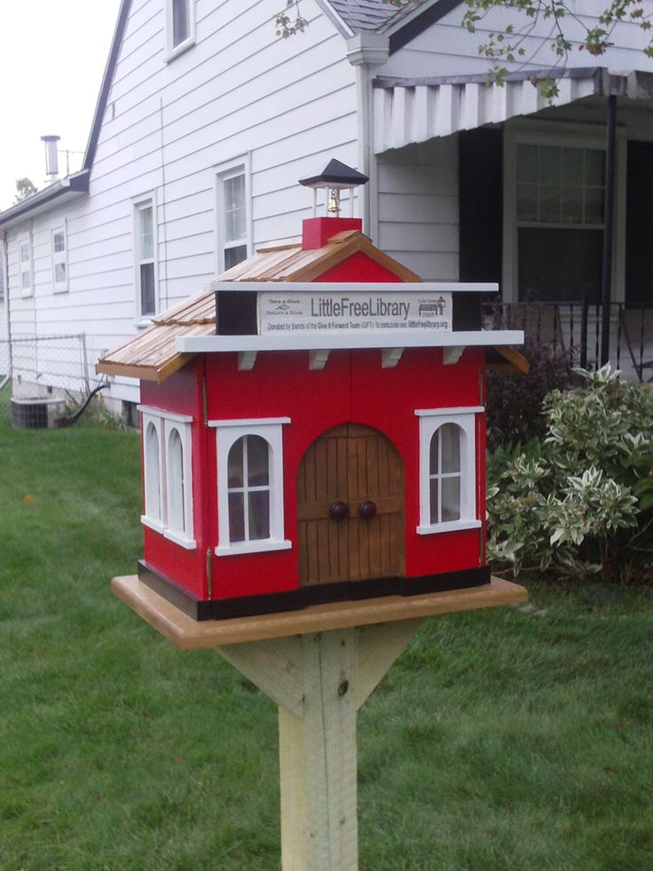 Build a Little Red Schoolhouse Library, let the Neighborhood Carpenter show you how! https://www.youtube.com/watch?v=EMApN1EHEQU