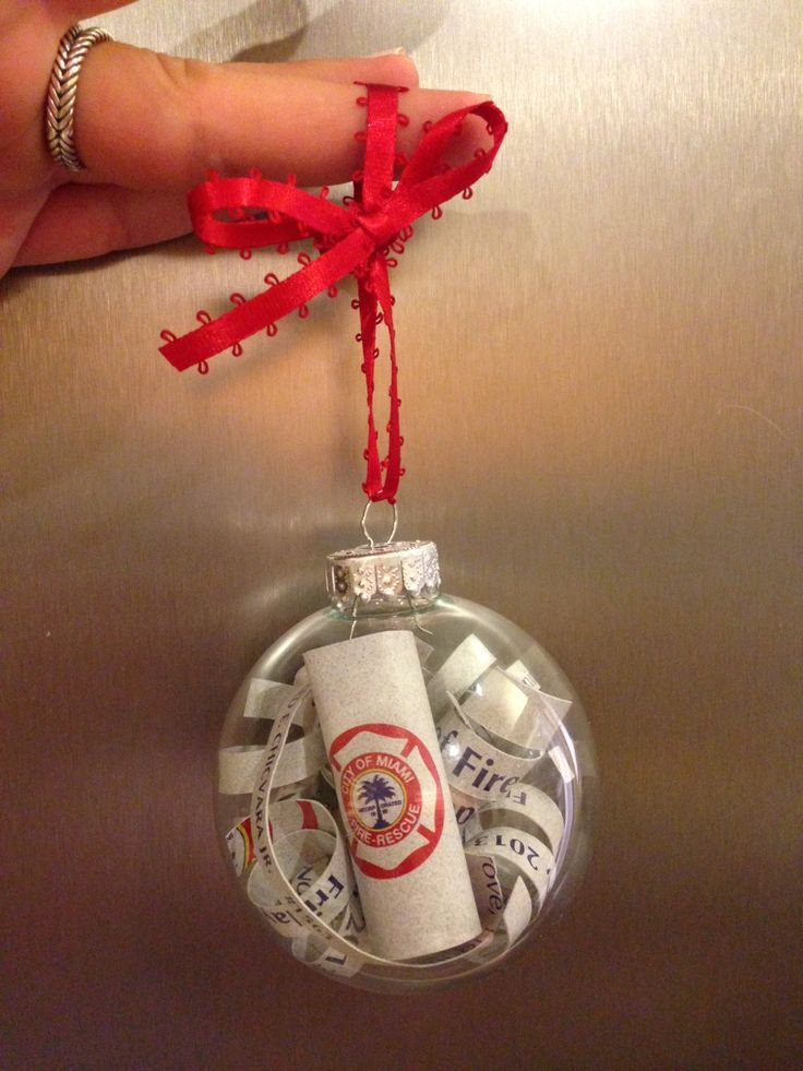 DIY Firefighter Graduation Program Memory Ornament You Can Also Make This Keepsake With Baby