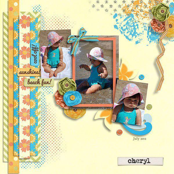 Cheryl's stunning layout!  Love this!