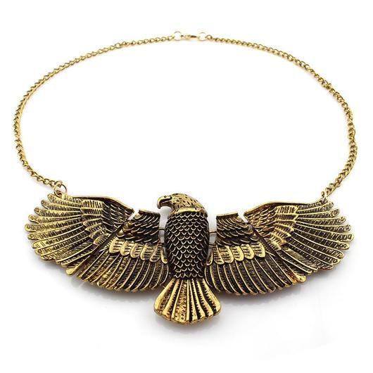 EGYPTIAN GODDESS DOMINEERING EAGLE NECKLACE - 2 COLORS-JEWELERY-TRYNKI