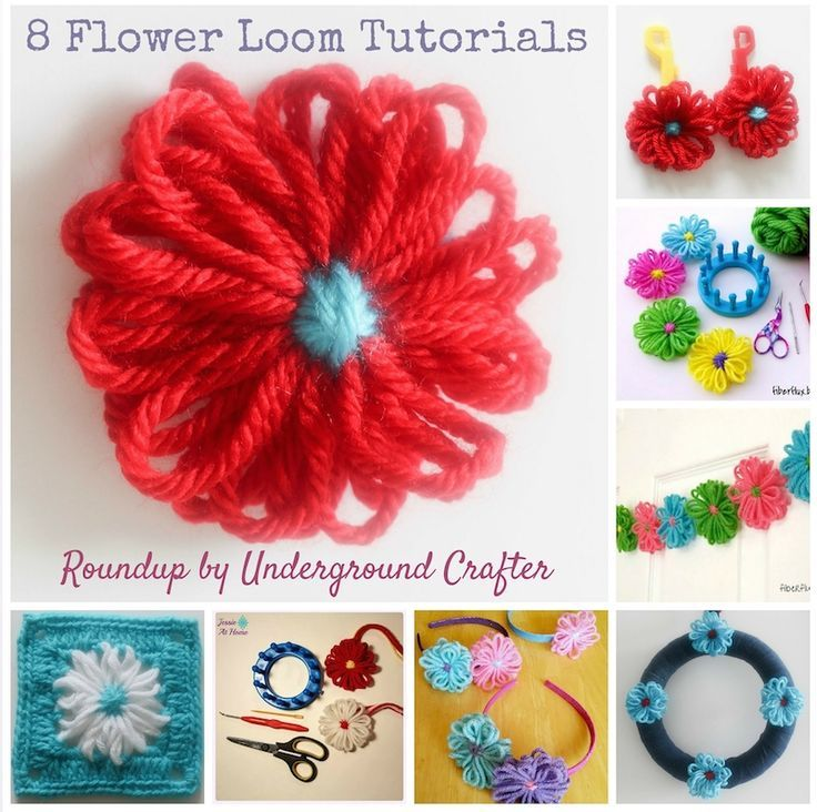 Knitting Loom Flower Tutorial : Best images about tutorials on pinterest loom