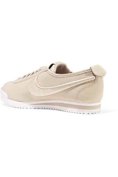 Nike - Cortez 72 Si Embroidered Leather Sneakers - Beige - US10.5
