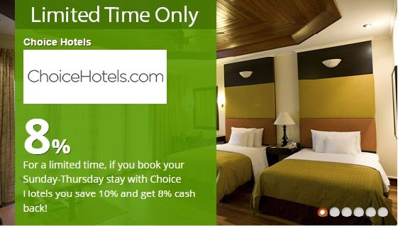 For a limited time, if you book your Sunday-Thursday stay with #ChoiceHotels you save 10% and get 8% cash back!   #TopCashback #HK #Travel #Hotel