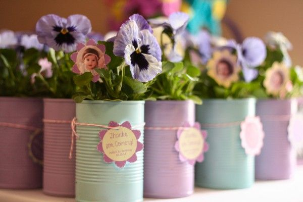 Spring-themed First Birthday Party Favors