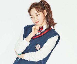 "I.O.I's Mina ""Dream Girl"" promotional picture."