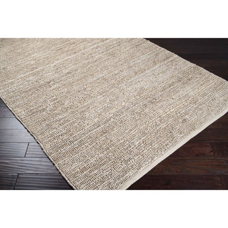 Possible Dining Room RugHand Woven Chapra Bleached Natural Fiber Jute Rug X