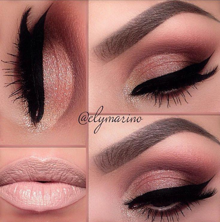 Maquillaje súper chic y elegante. Perfecto para ir a trabajar o alguna ocasión especial. Labios puede variar.  Super chic makeup. Perfect for work or special occasions. Lips may vary.