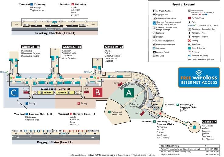 DCA Reagan National Airport Website