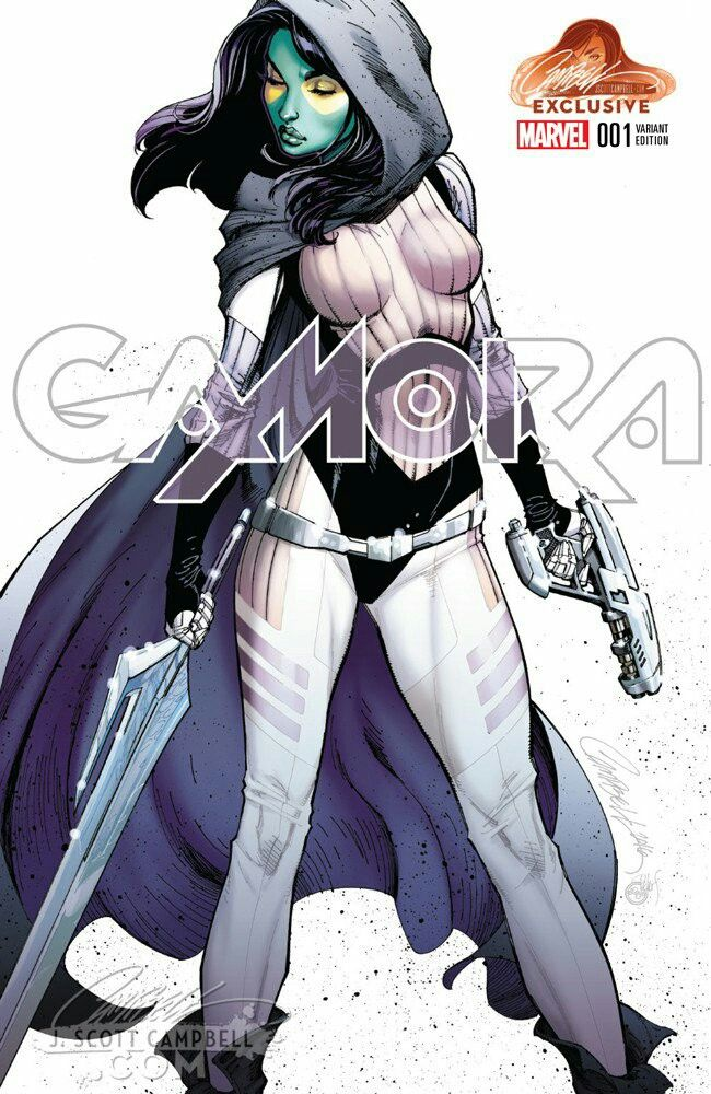 Gamora #1 (2016) JSC Exclusive Cape Variant Cover by J. Scott Campbell