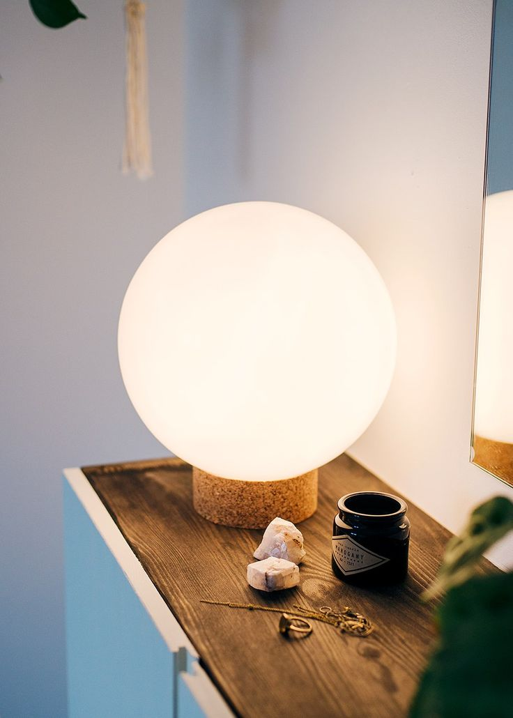 DIY: round table lamp #Decor #Lighting