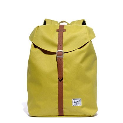 Herschel Supply Co.® Post Backpack from Madewell - pop of color with a vintage feel for carrying all the essentials while you explore with ease