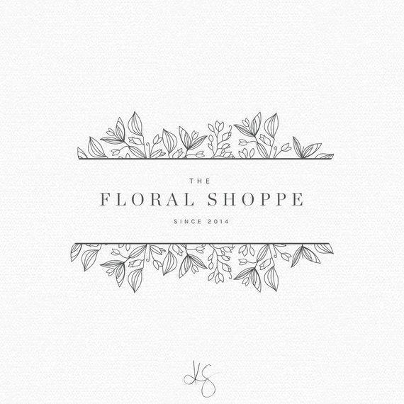 PREMADE LOGO. Floral Logo. Logo Design. Photography Logo. Blog Header. Feminine Logo. Company Logo Design. Custom Logo. Floral Clipart