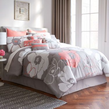 of grey comforter image sets new king buy gray strip