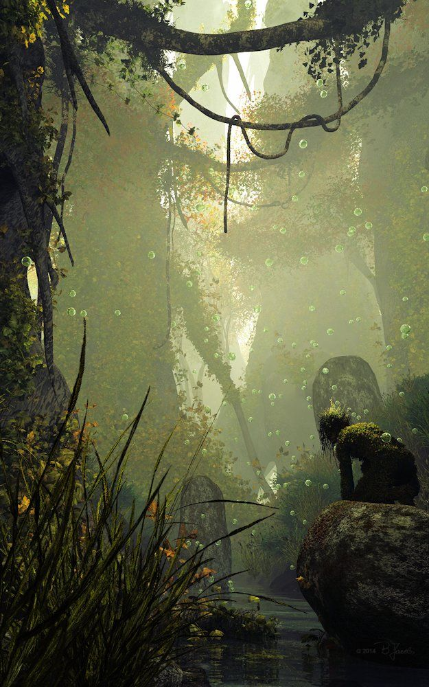 ArtStation - Deep forest magic, Britta Jacobs
