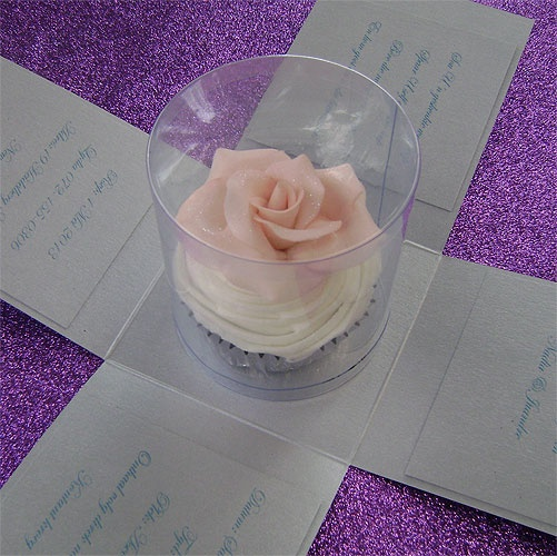 Ref  Cake Boss cup cake with rose ( we can do any colour) www.weddingcards.co.za