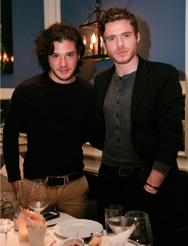 Kit Harrington and Richard Madden {just started watching game of thrones and these two are awesome actors as well as gorgeous eye candy}