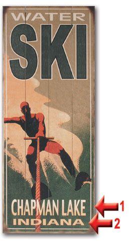 Old School Water Ski Vintage Sign