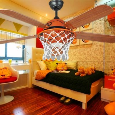 childrens bedroom lamps. Classic Basketball Ceiling Fan Lights Children s Bedroom Simple Style  Ceilling Remote Control 18 best Kid lamp images on Pinterest