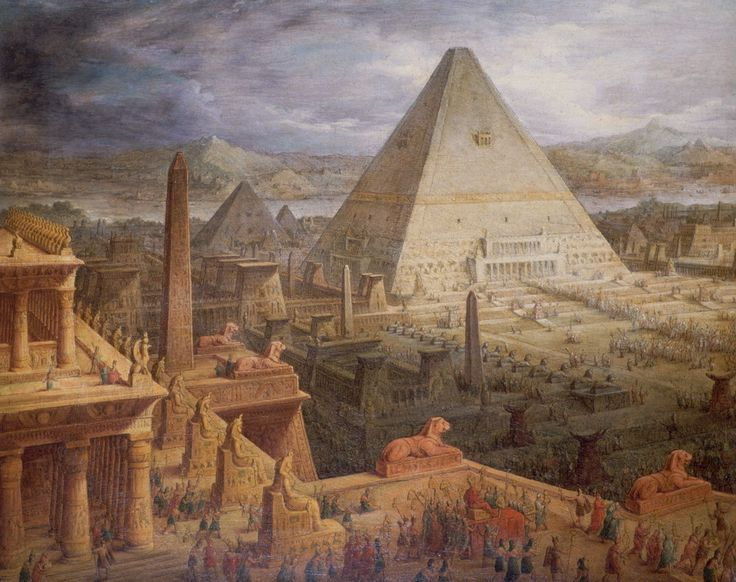 Egyptian Architecture illuminate-eliminate: painting of ancient egyptian architecture