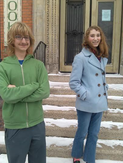 Editors Peter and Amelia.