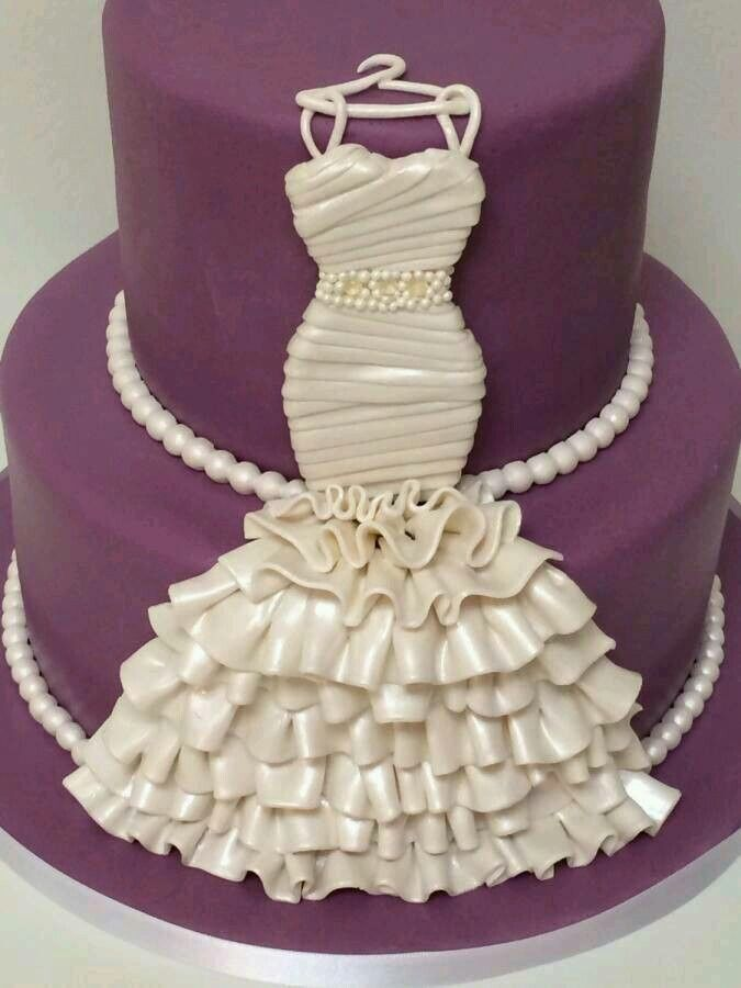 Bridal shower cake! #wedding #vintage -pinned by Vintage specialists Maxon's Attic https://www.etsy.com/shop/MaxonsAttic