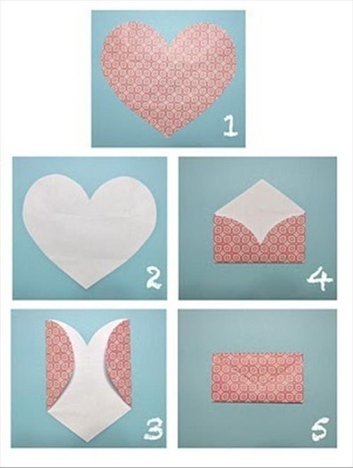 make an envelope....out of heart shape.....   cool......  @StyleShare | Street-style Fashion SNS