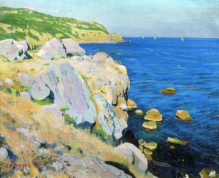 Arkady Rylov - Rocks in Kekeneiz,  1909