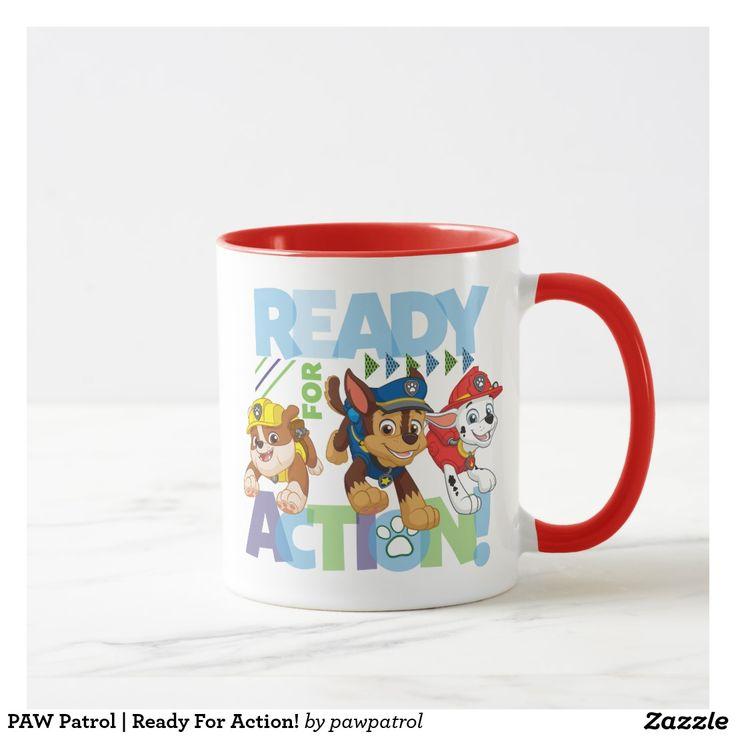 PAW Patrol | Ready For Action! Puppy, dog lover. Regalos, Gifts. Producto disponible en tienda Zazzle. Tazón, desayuno, té, café. Product available in Zazzle store. Bowl, breakfast, tea, coffee. #taza #mug