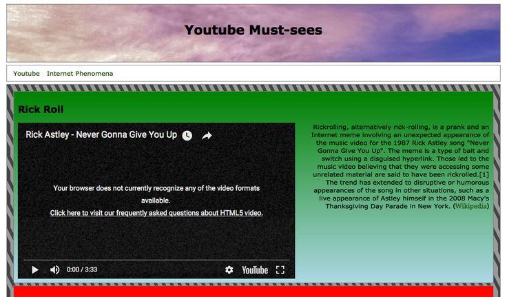 Millicent's Youtube Portals