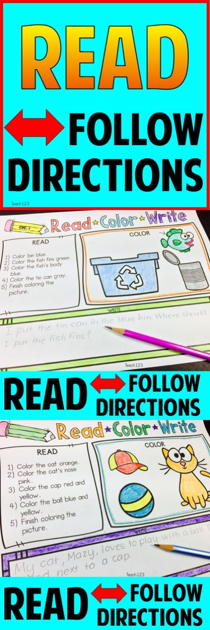 117 best Kindergarten & 1st Grade Reading and Writing Ideas images ...