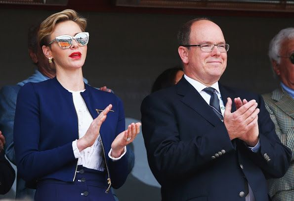 Princess Charlene and Prince Albert at Monte-Carlo Sporting Club