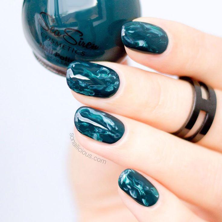 25 Best Ideas About Emerald Nails On Pinterest Dark